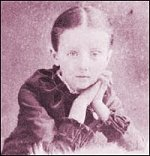 Maud at age 8, around the time of the 'Ghostly Bell' incident.
